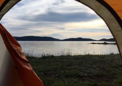 caroline swan - tent view